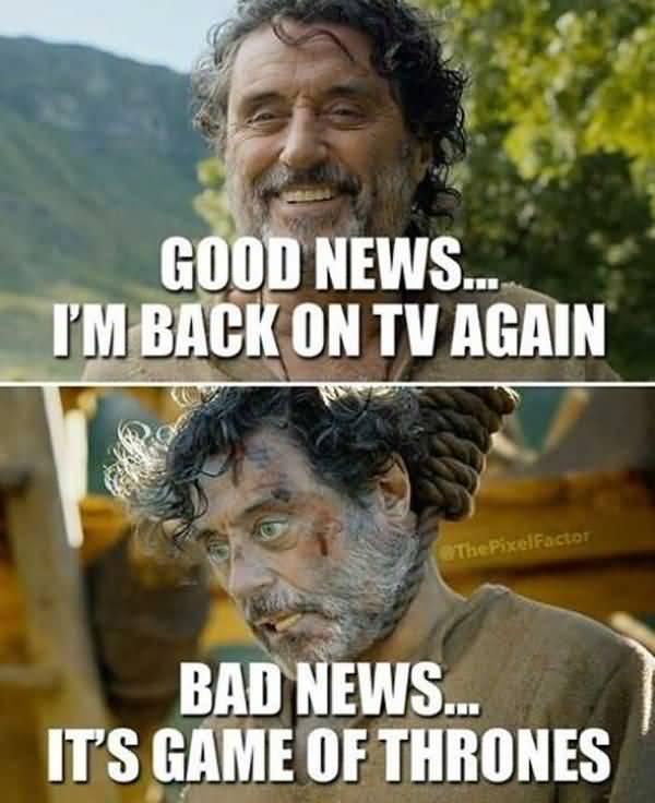 Hilarious Game of Thrones Season 8 Meme Image