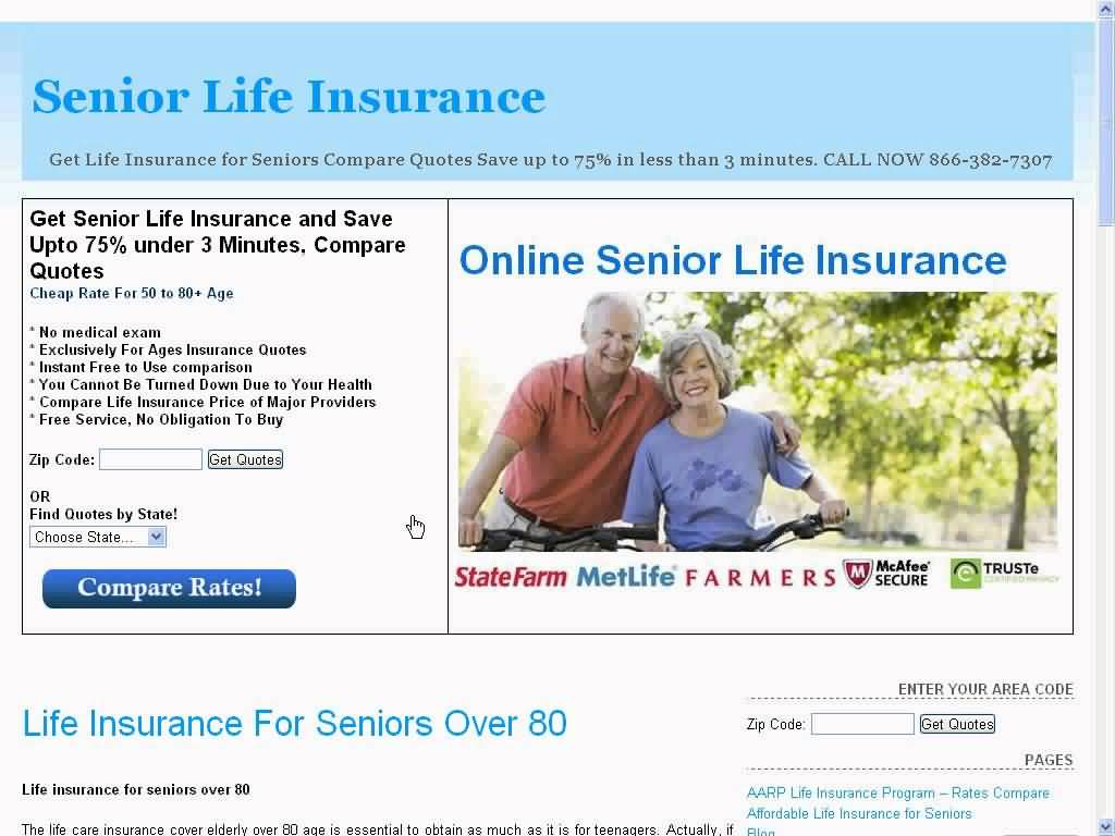 Life Insurance Quotes For Seniors Over 80 12