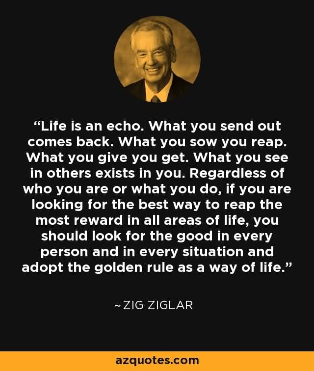 Life Is An Echo Quote 11