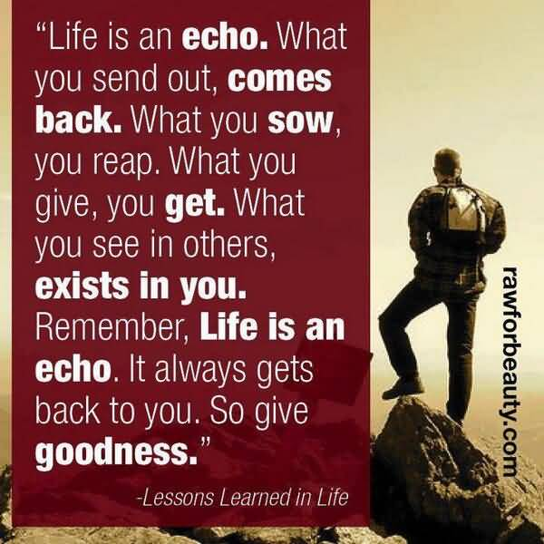 Life Is An Echo Quote 20