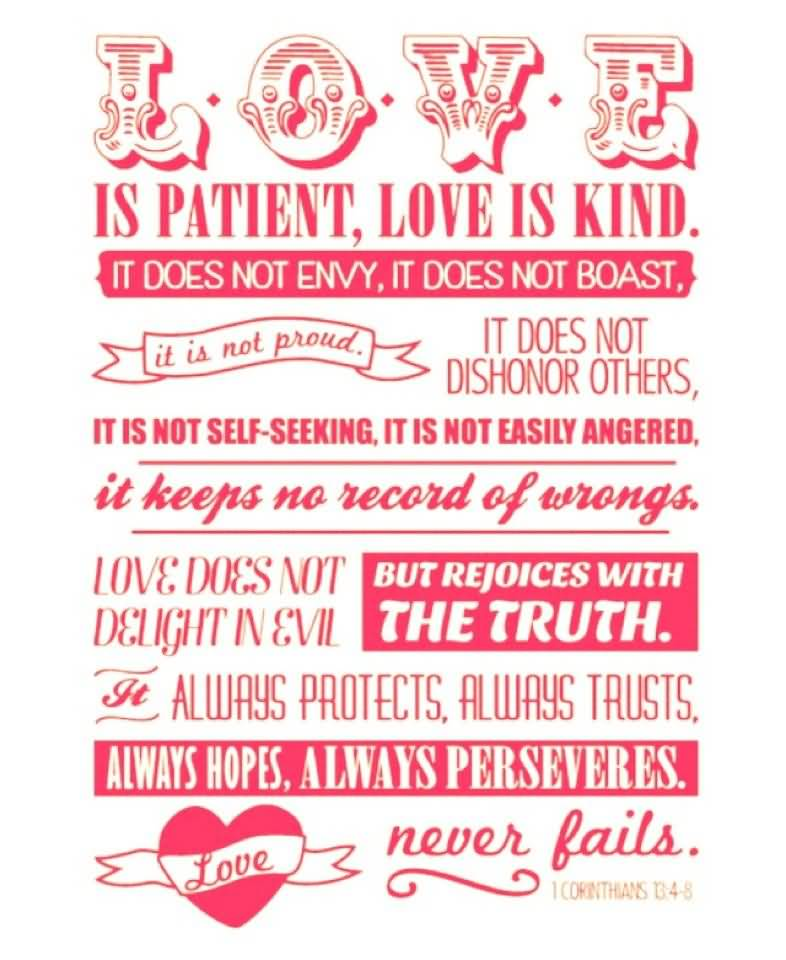 Love Is Patient Love Is Kind Quote 05