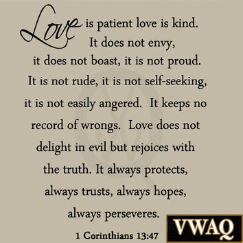 Love Is Patient Love Is Kind Quote 15