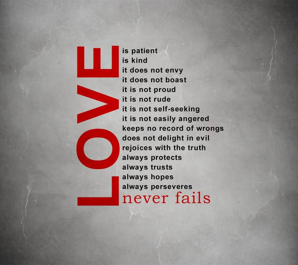 Love Never Fails Quote 05