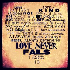 Love Never Fails Quote 18
