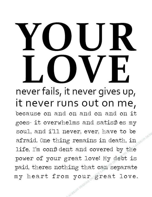 Love Never Fails Quote 20
