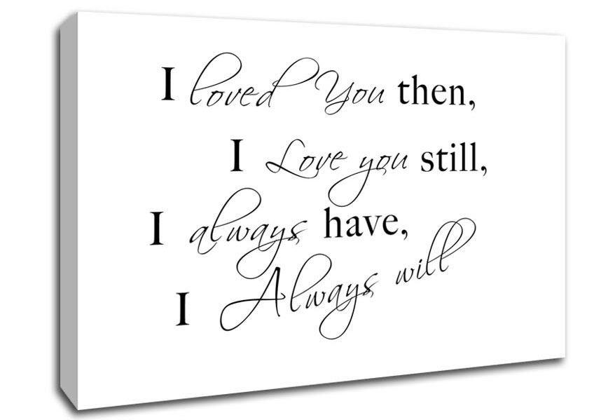 Love Quotes On Canvas 02
