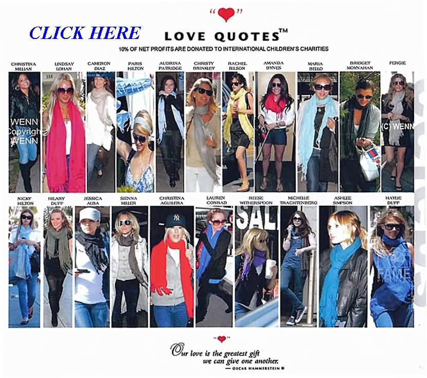 Love Quotes Scarves 02