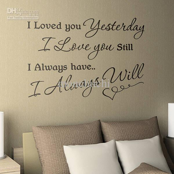 Love Quotes Wall Decals 17