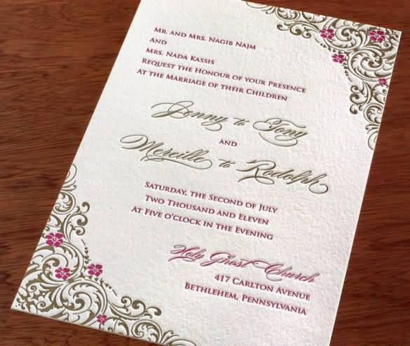 Love Quotes Wedding Invitation 07