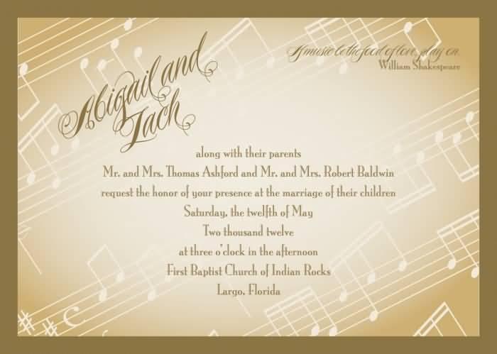 Love Quotes Wedding Invitation 19