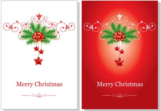 Merry Christmas Cards Vector Image Picture Photo Wallpaper 01