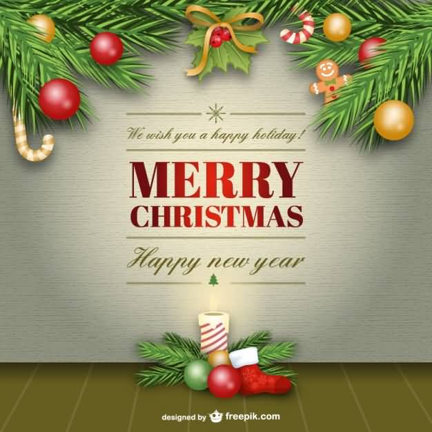 Merry Christmas Cards Vector Image Picture Photo Wallpaper 14