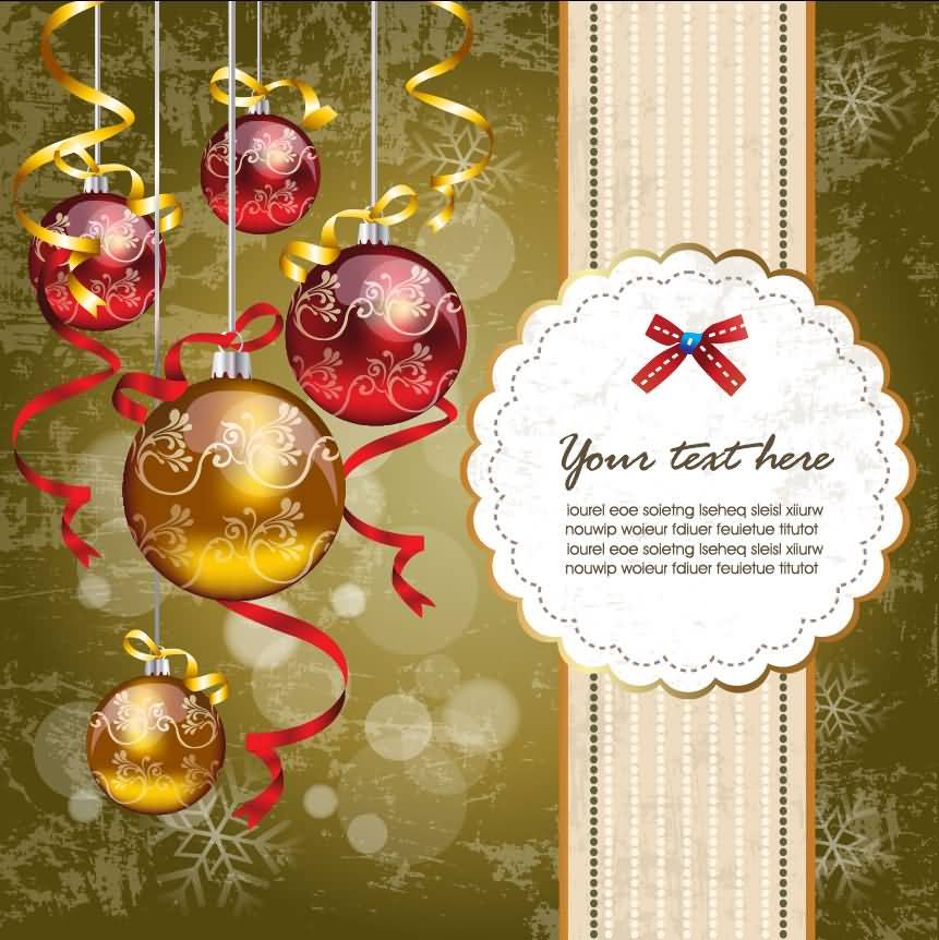 Merry Christmas Cards Vector Image Picture Photo Wallpaper 16
