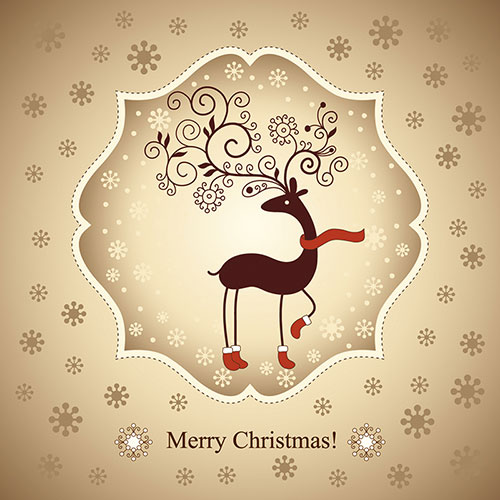 Merry Christmas Cards Vector Image Picture Photo Wallpaper 17