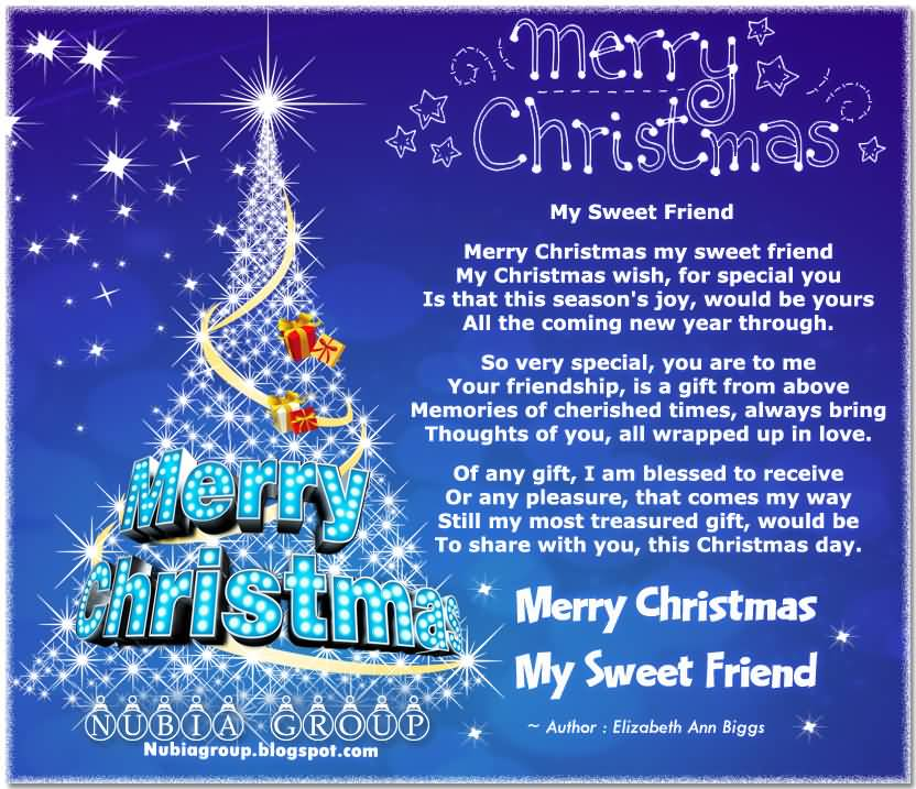 Merry Christmas My Sweet Friend
