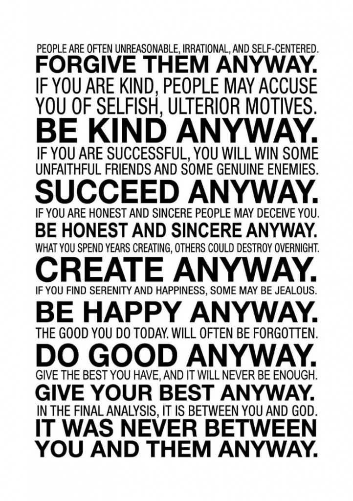 Mother Teresa Quotes Love Anyway 06