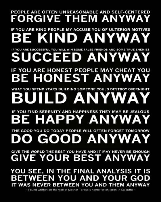 Mother Teresa Quotes Love Them Anyway 01