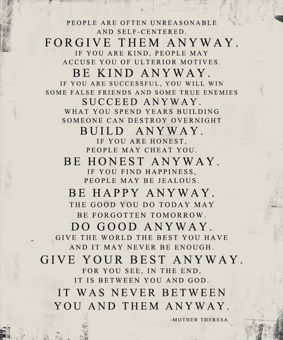 Mother Teresa Quotes Love Them Anyway 04