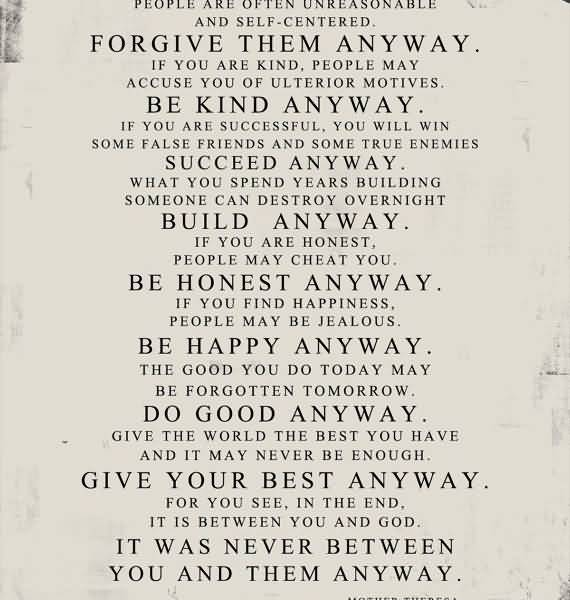 Mother Teresa Quotes Love Them Anyway 12