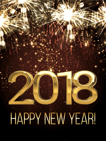 New Year 2018 Cards Wishes Image Picture Photo Wallpaper Greetings 04