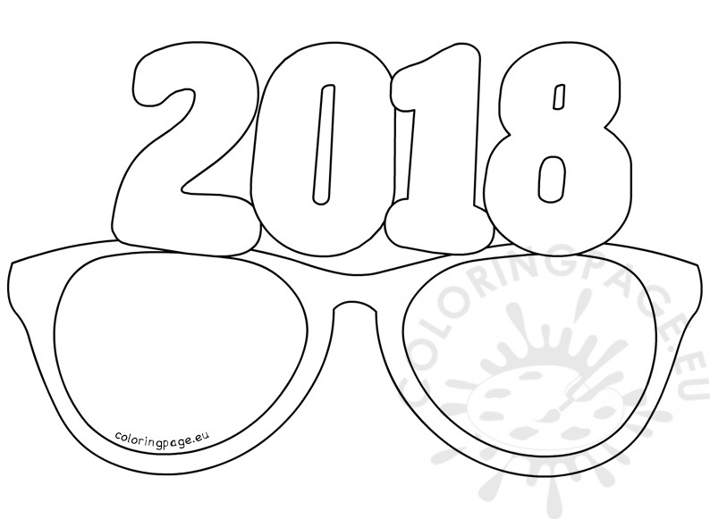 New Year 2018 Coloring Pages Template Image Picture Photo Wallpaper 08