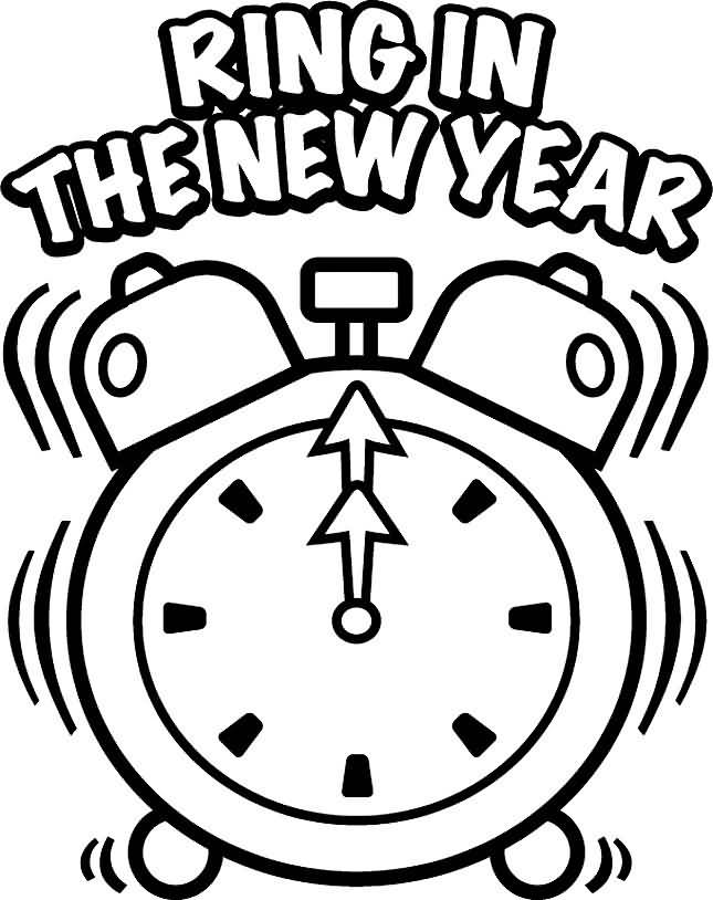 New Year 2018 Coloring Pages Template Image Picture Photo Wallpaper 11