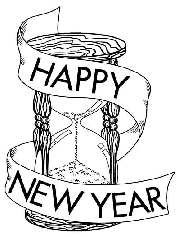 New Year 2018 Coloring Pages Template Image Picture Photo Wallpaper 14