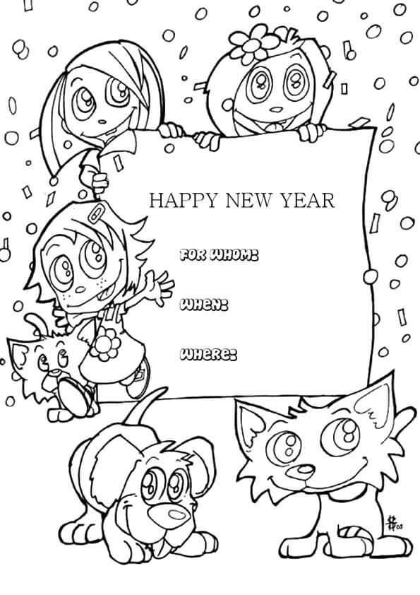 New Year 2018 Coloring Pages Template Image Picture Photo Wallpaper 15