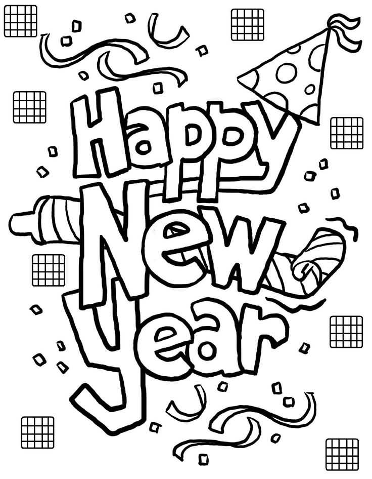 New Year 2018 Coloring Pages Template Image Picture Photo Wallpaper 16