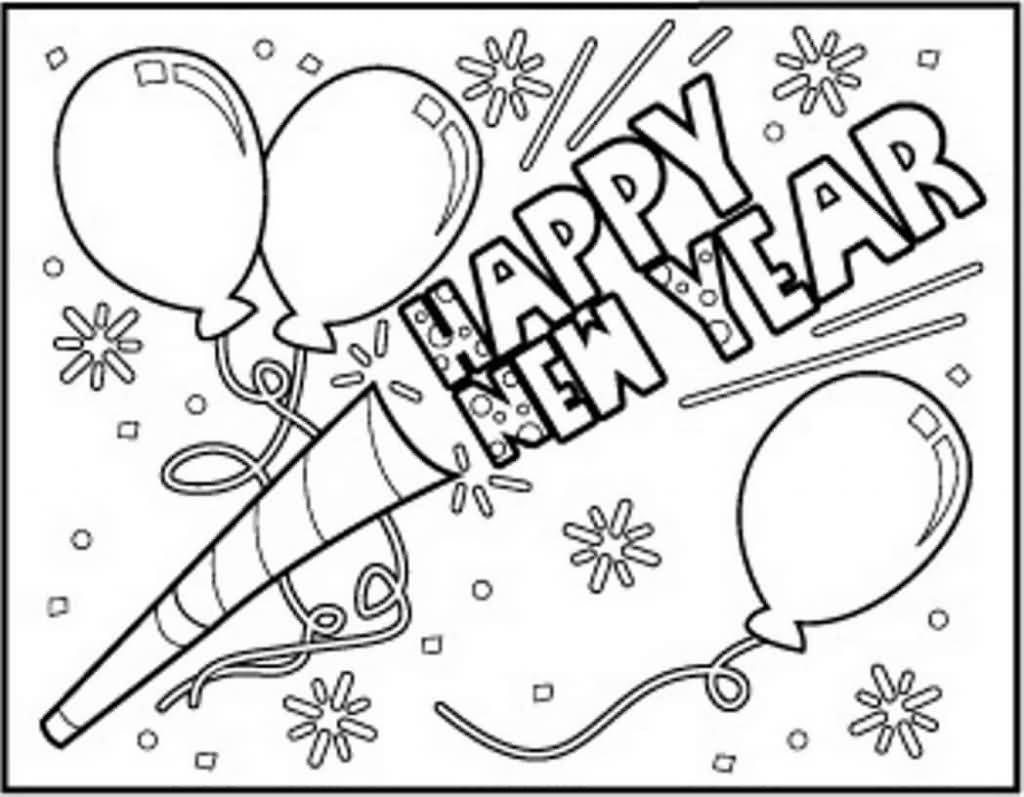 New Year 2018 Coloring Pages Template Image Picture Photo Wallpaper 20