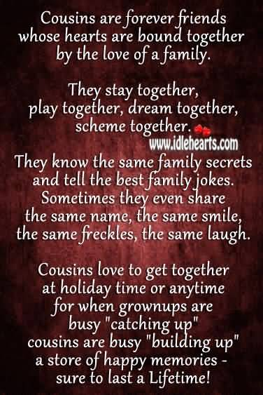 Quotes About Cousin Friendship 04