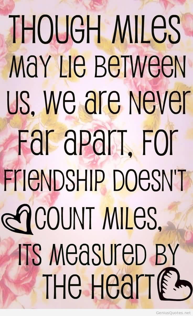 Quotes About Friendship Distance 17