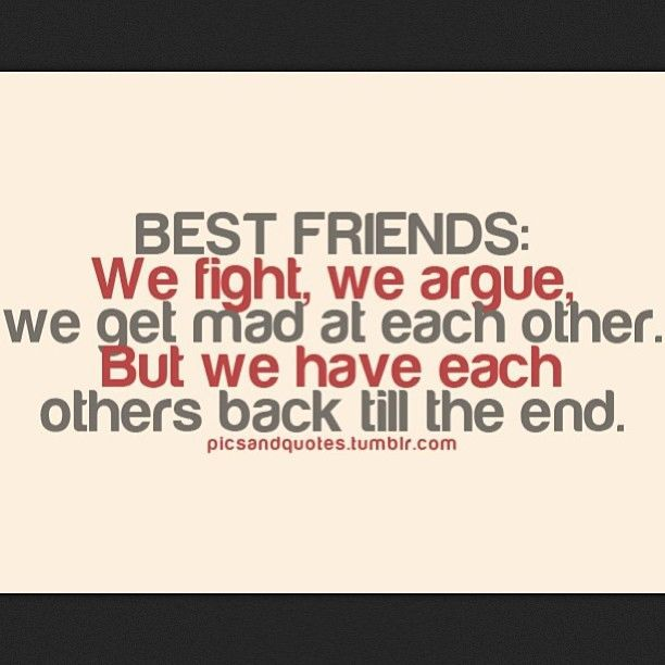 Quotes About Friendship Fights 13