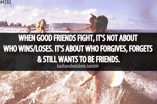 Quotes About Friendship Fights 16