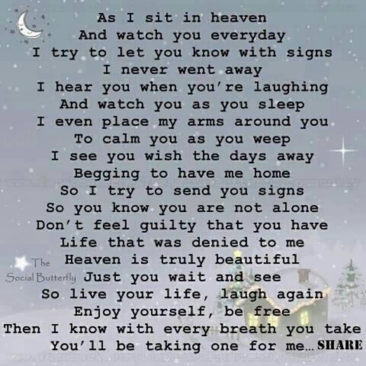 Quotes About Lost Loved Ones In Heaven 17