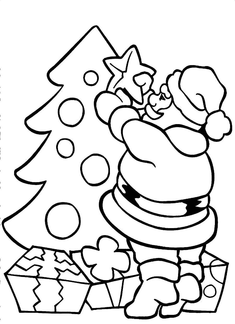 Santa Claus Coloring Pages Image Picture Photo Wallpaper 02
