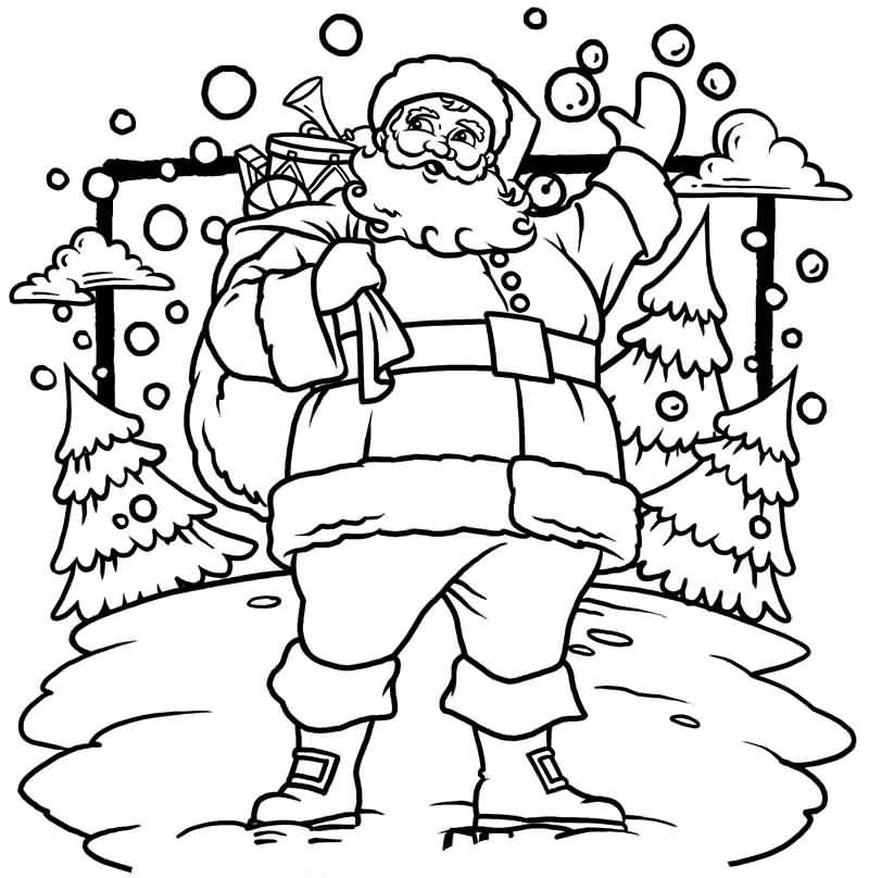 Santa Claus Coloring Pages Image Picture Photo Wallpaper 06