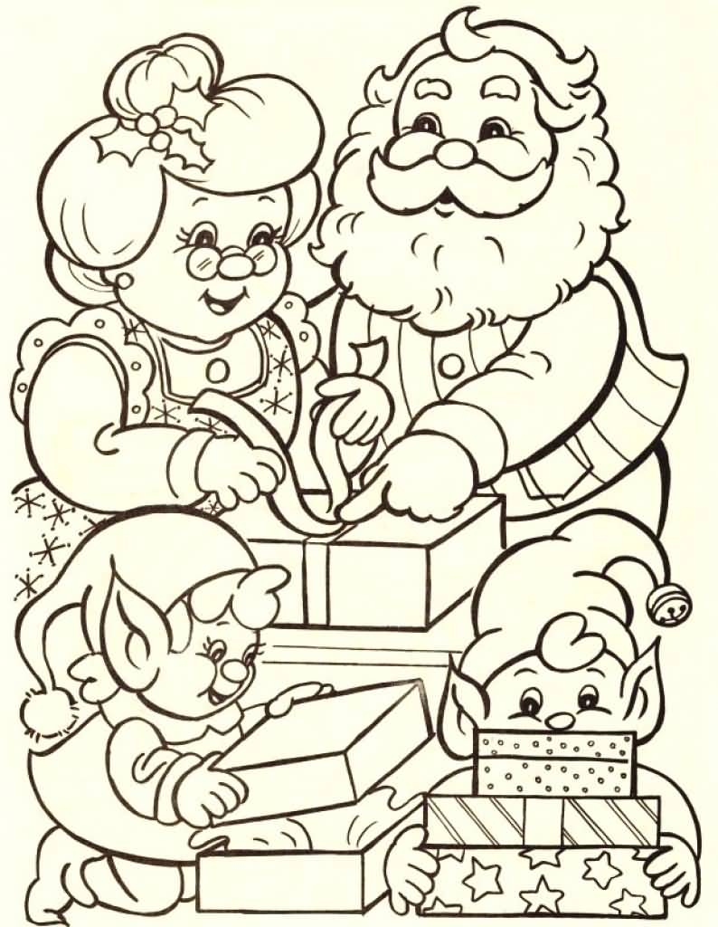 Santa Claus Coloring Pages Image Picture Photo Wallpaper 07