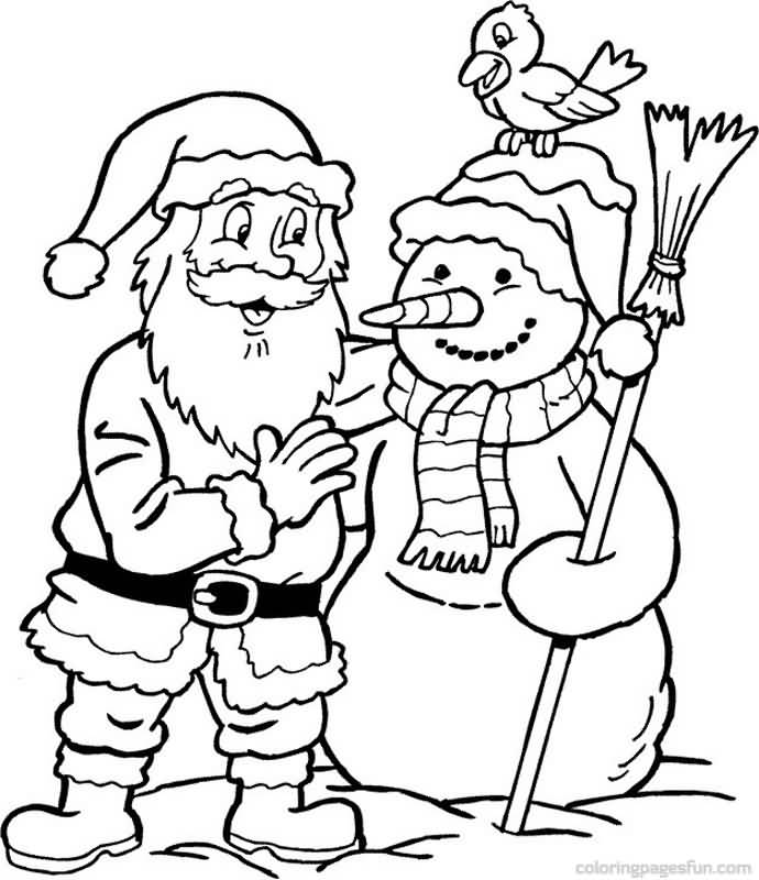 Santa Claus Coloring Pages Image Picture Photo Wallpaper 14