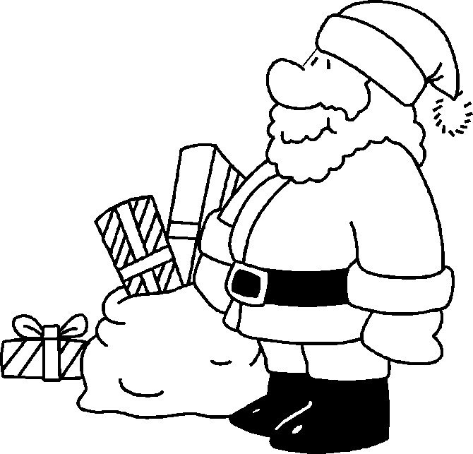 Santa Claus Coloring Pages Image Picture Photo Wallpaper 19
