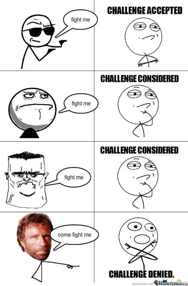 Very Funny Challenge Accepted Meme Graphics