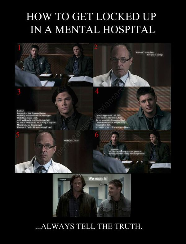 Very Funny Supernatural Memes Graphic