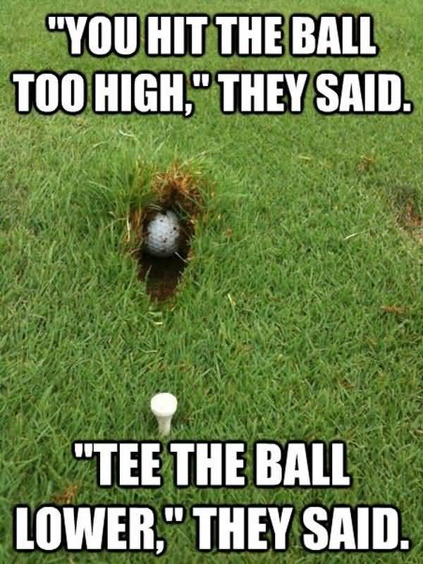 Very funny golf memes picture