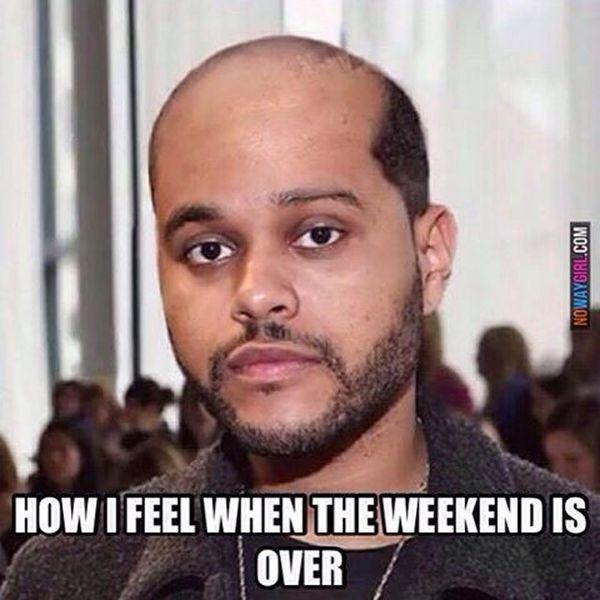 Amusing When the Weekend Is over Meme Joke