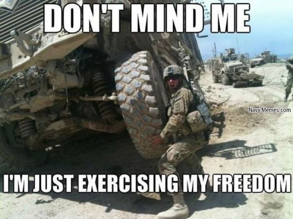 Amusing common military freedom memes image