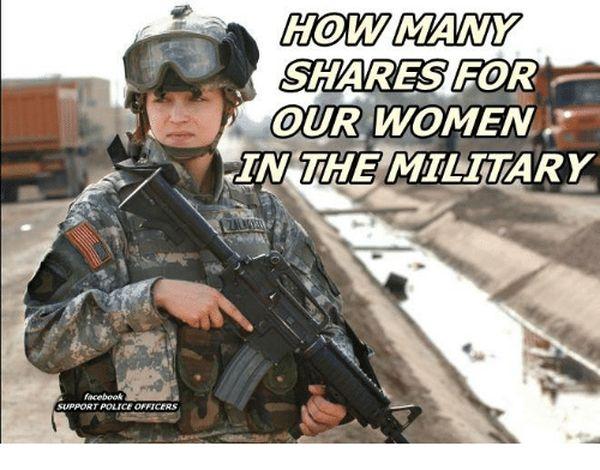 Amusing common military women memes picture