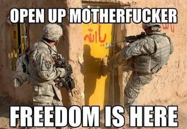 Amusing military freedom memes image