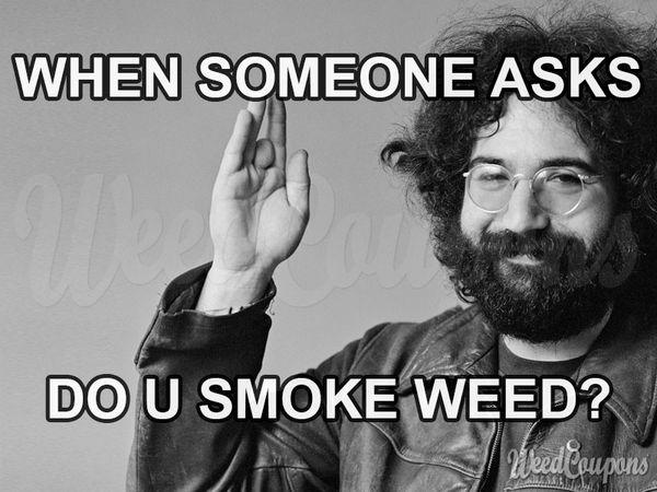 Amusing smoking weed meme picture