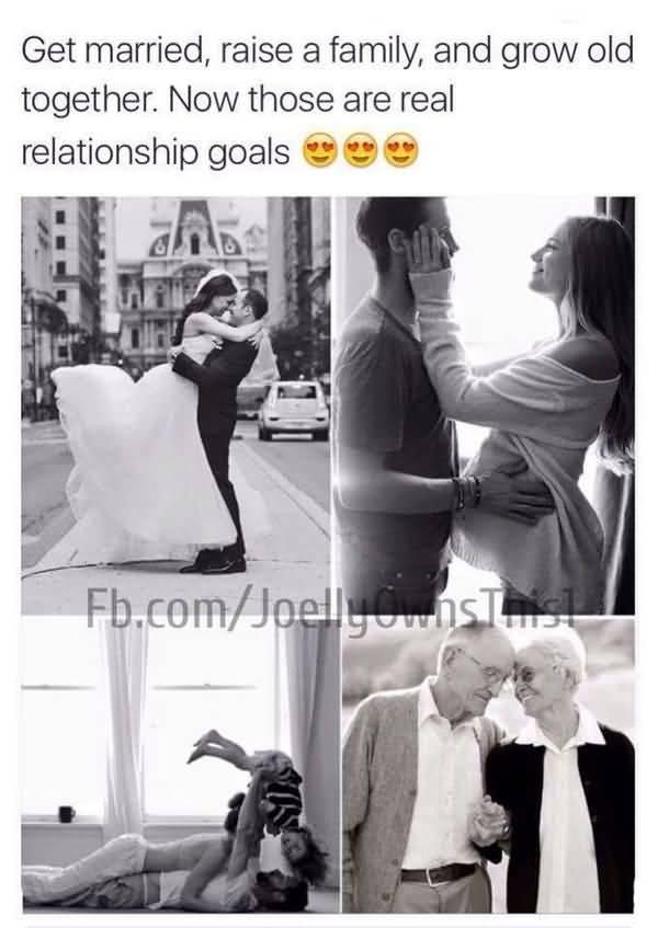 Amusing usual relationship goals meme image