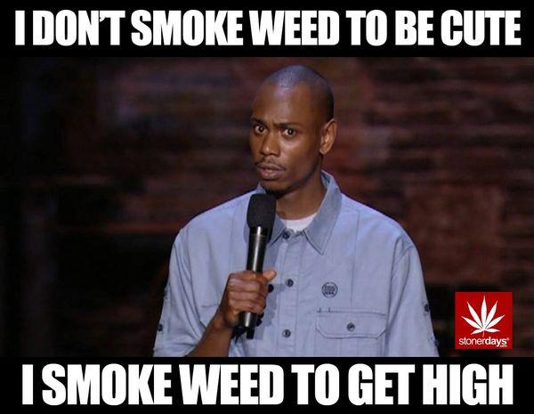 Amusing weed head meme joke